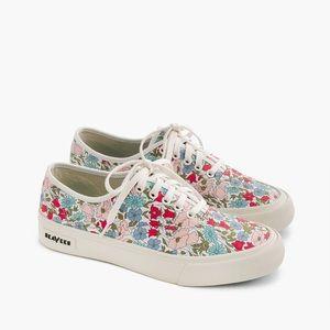 J. Crew x Seavees Legend Sneaker in Liberty Floral